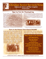 Christian Senior Services Newsletter